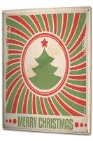 Tin Sign XXL Santa Claus Merry Christmas