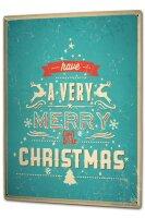 Tin Sign XXL Nostalgic Christmas Merry Christmas