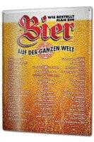 Tin Sign XXL Brewery Beer Kitchen Pit Hammann Order a beer