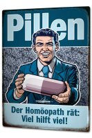 Tin Sign XXL Fun Kitchen Pit Hammann Homeopathic pills...