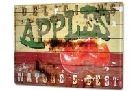 Tin Sign XXL Holiday Travel Agency M.A. Allen apple...