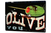 Tin Sign XXL Holiday Travel Agency M.A. Allen olives