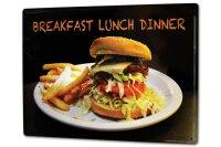 Tin Sign XXL Kitchen G. Huber Breakfast Lunch Dinner