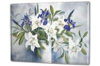 Tin Sign XXL Flora Floral F. Heigl Still Life Vase