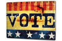 Tin Sign XXL Fun M.A. Allen Vote