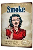 Tin Sign XXL Tobacco Pit Hammann smoking addiction tilting