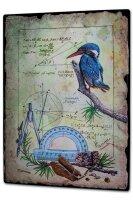 Tin Sign XXL Bird Warminski kingfisher