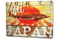Tin Sign XXL Holiday Travel Agency M.A. Allen Visit Japan
