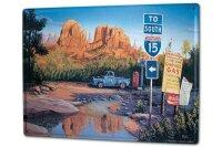 Tin Sign XXL Holiday Travel Agency G. Huber vintage USA