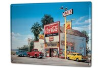 Tin Sign XXL Holiday Travel Agency G. Huber gas station...