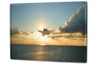 Tin Sign XXL Holiday Travel Agency G. Huber Sunset