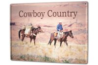 Tin Sign XXL Holiday Travel Agency G. Huber Cowboy Country
