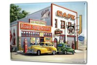 Tin Sign XXL Holiday Travel Agency G. Huber road stop...