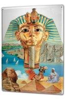 Tin Sign XXL Ancient Egypt Pharaoh Sphinx Hieroglyphics...
