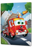 Tin Sign XXL Ravtive Funny fire truck  Fun