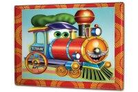 Tin Sign XXL Fun Kitchen Train locomotive steam engine