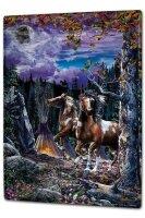 Tin Sign XXL Fun Ravtive horses