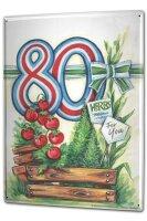 Tin Sign XXL Birthday Congratulations Birthday card 80