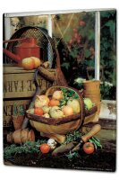 Tin Sign XXL Holiday Travel Agency Vegetable garden basket