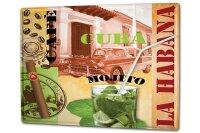 Tin Sign XXL Holiday Travel Agency Cuba Havana Mojito