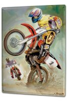 Tin Sign XXL Motorcycle Garage Motocross biker wheelie