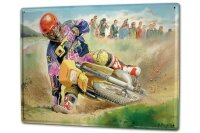 Tin Sign XXL Motorcycle Garage Motocross races mud