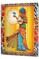 Blechschild XXL Wand Küche Afrika Schmetterling Gewand