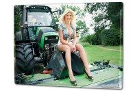 Tin Sign XXL Sexy Fun Ravtive tractor cutout