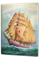 Tin Sign XXL Kitchen Ship Sailing ship Frigate