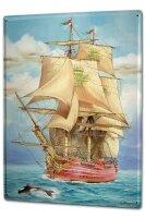 Tin Sign XXL Maritime Sailboat Killer
