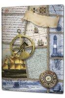 Tin Sign XXL Kitchen Ship Sextant Sailboat Compass