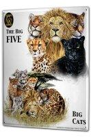 Tin Sign XXL Nursery Big Cats