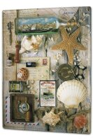 Tin Sign XXL Holiday Travel Agency Ship bottle starfish