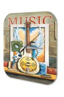 Wall Clock Bar Party Vintage G. Huber Music guitar Acryl...