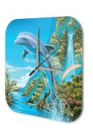 Decorative Wall Clock Vet Practice G. Huber Dolphin Acryl...