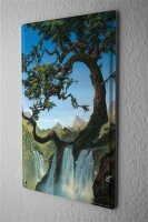 Tin Sign Feng Shui Picture G. Huber River tree