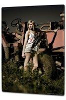 Tin Sign XXL Sexy Fun Ravtive Model tractor