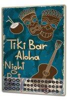 Perpetual Calendar Bar Party Tiki Bar Aloha party Tin...