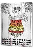 Perpetual Calendar Bar Party Bahama Mama Tin Metal Magnetic