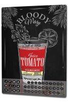 Perpetual Calendar Bar Party Bloody Mary recipe Tin Metal...