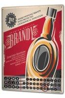 Perpetual Calendar Bar Party Brandy Tin Metal Magnetic
