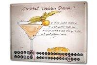 Perpetual Calendar Bar Party Golden dream Tin Metal Magnetic