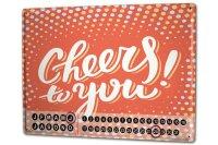 Perpetual Calendar Nostalgic Alcohol Retro Cheers Tin...