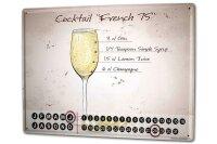 Perpetual Calendar Bar Party French 15 Tin Metal Magnetic