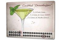 Perpetual Calendar Nostalgic Alcohol Retro Grasshopper...