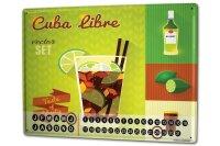 Perpetual Calendar Nostalgic Alcohol Retro Cuba Libre Tin...