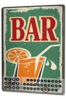 Perpetual Calendar Bar Party Bar Tin Metal Magnetic