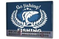 Perpetual Calendar Coastal Marine Go fishing Tin Metal...