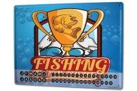 Perpetual Calendar Angler Home Fishing Tournament Tin...