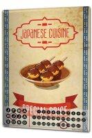 Perpetual Calendar Asian Art japanese cuisine Tin Metal...